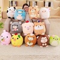 China Zodiac Plush Toys Squishy Plush Tiger Rabbit Pig Pillow With Blanket Stuffed Animals Soft Toys Gift For Children Girls