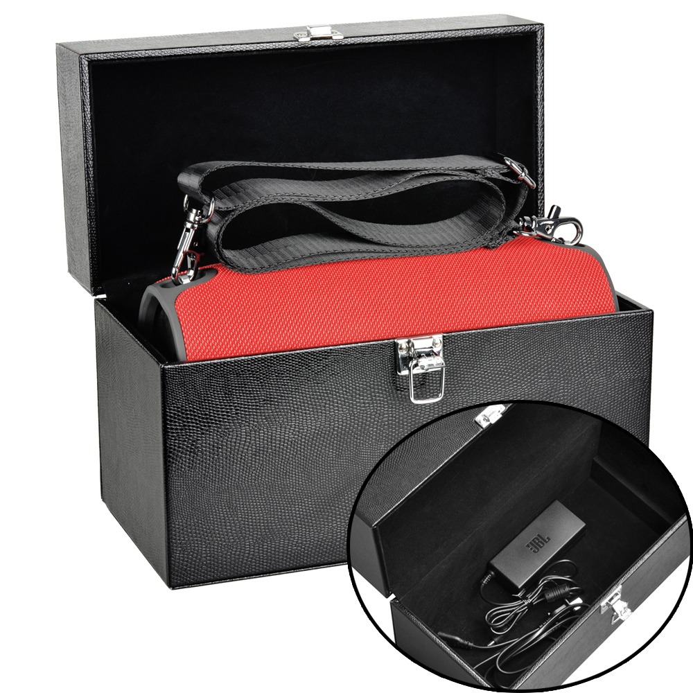Pu Leather Travel Case For Jbl Xtreme Portable Splashproof Speaker Red Rechargeable Wireless Bluetooth Extra Space Plug Cables In Accessories From