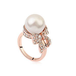 High End Fashion Costume Jewelry Accessories Elegant Pearl Austrian
