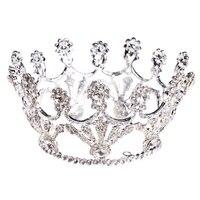 2017 Fashion Luxury Women Rhinestones Flowers Bridal Crown Tiara Lady Wedding Bride Hair Diadema Accessories New Silver Gift