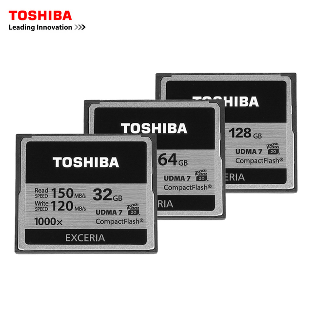 TOSHIBA 32GB 64GB 128GB CF card professional compact flash Card High Speed 150MB/s UDMA7 1000X for camera camcorderadn vidieo