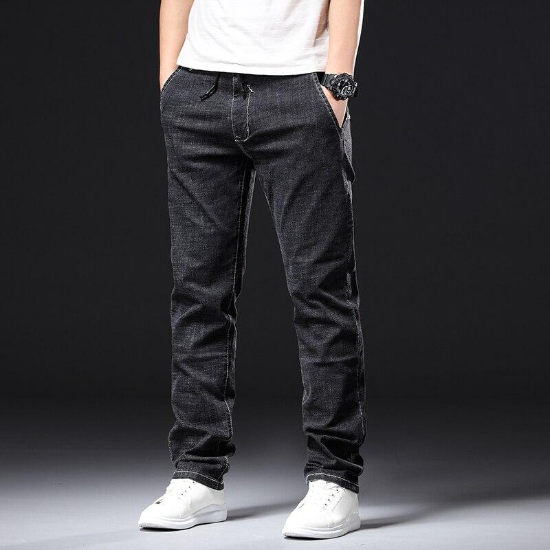 Men Plus Size Pants Jeans Strech Comfortable 36 38 40 42 44 46 48  Mens High Stretch Large Trouser Loose Jeans For Men