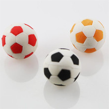 2PCS kawaii Football Shape Eraser for pencil cute rubber Puzzle Prizes Student Gifts School Supplies Teacher's gift