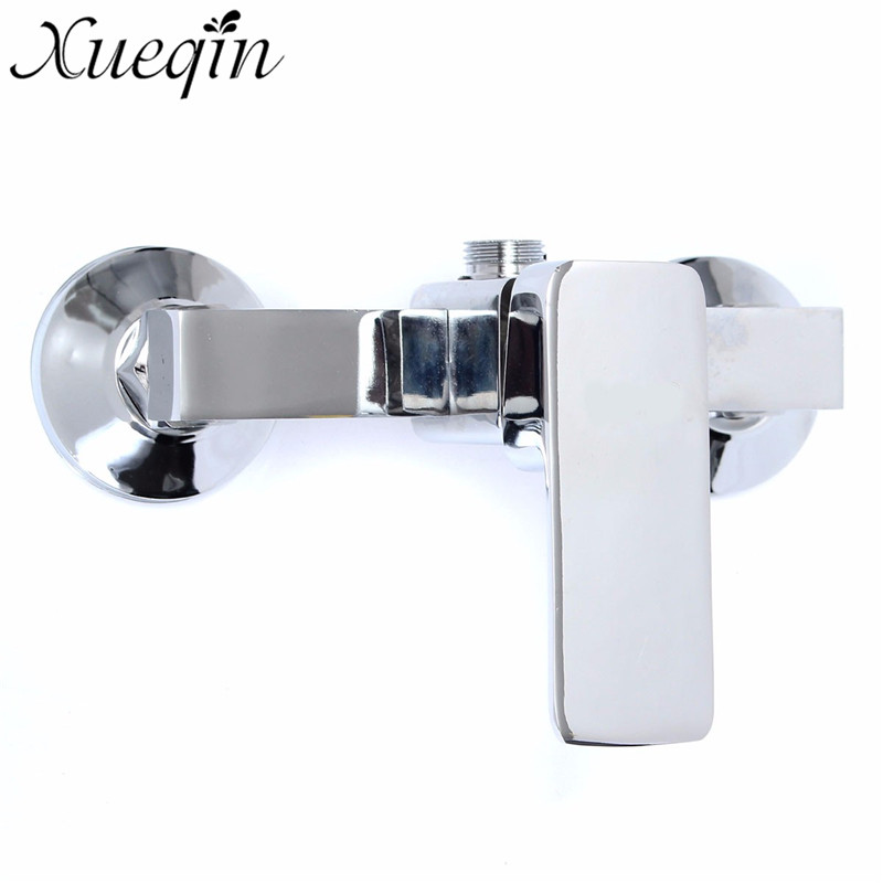 Xueqin Chrome Zinc Alloy Bathroom Mixer Faucet Tap Wall