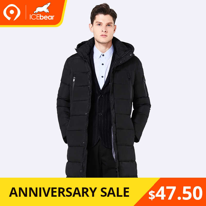 025dd887fbc ICEbear Сезон Зима 2016 Для мужчин  длинное пальто изысканный рука карман  Для мужчин одноцветное парка