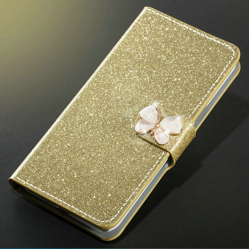 Image 2 - New Fashion Luxury Glitter Diamond Leather Case Xiaomi Redmi Note 5 Pro Plus 5A Wallet Original Flip Phone Cover-in Half-wrapped Cases from Cellphones & Telecommunications