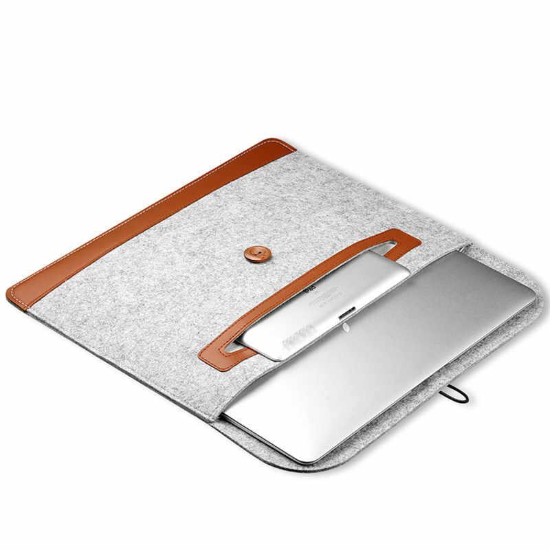 ¡OFERTA 2019! nueva funda de fieltro de lana 11 12 13 funda protectora para Portátil Bolsa funda para Apple MacBook Air Pro 13,3 15 Retina 15,4 Notebook