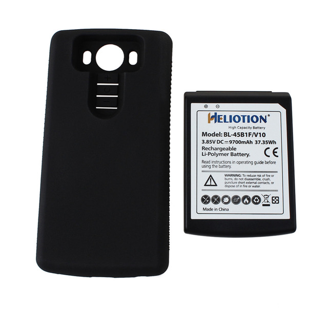 New Brand 9700mAH 3.85V Phone Replacement Rechargeable Battery For LG V10 BL-45B1F Batterie Bateria with Black back cover Case