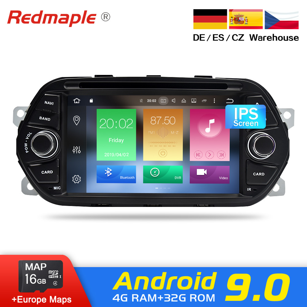7 Android 9.0 Car Radio DVD GPS Navigation Multimedia Player For Fiat Tipo Egea 2015 2016 2017 Auto Audio Bluetooth Stereo
