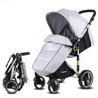 Легкая детская коляска 2 в 1 из алюминиевого сплава, теплая детская коляска для ног, детские складные коляски