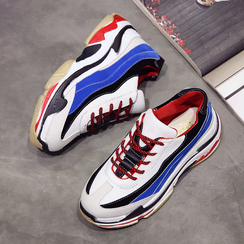 Men Fly Weaving Sock Shoes Lace Up Sneakers Geometry Colorful Running Shoes Ultralight Breathable Sport Shoes Plus 48 Size Fashionable Style; In