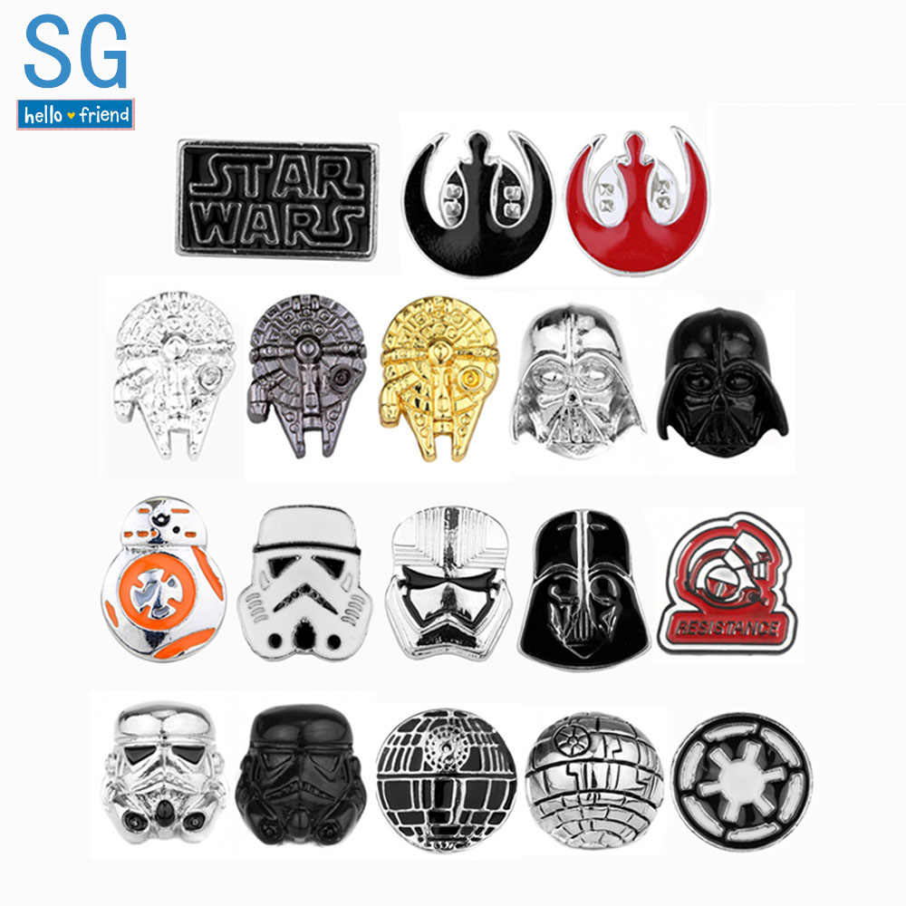 SG Star Wars Bros Aliansi Falcon BB8 Darth Vader Stormtrooper Topeng Avengers Kerah Pin Pria Mantel Perhiasan Hadiah