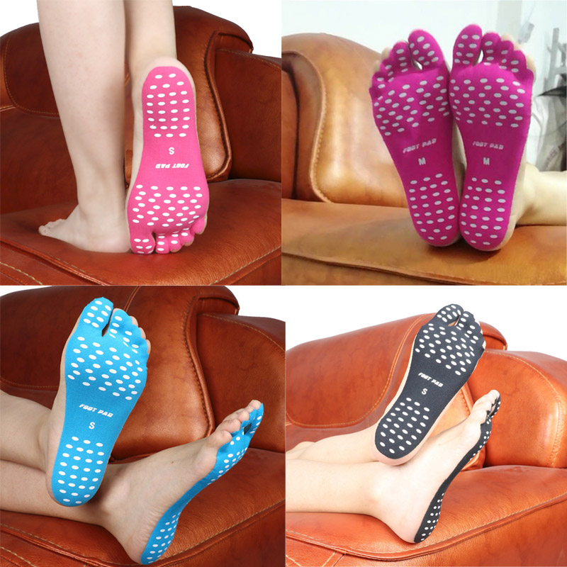 Non-slip Seaside Beach Shoes equipped with anti-skid yoga shoes Beach socks Pad Feet Sticker Insoles Flexible Beach Feet yoga socks non slip skid with full toe grips