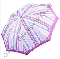 10mm Alloy Shaft Embroidery Lace Umbrellas And Nickel Plated Fluted Ribs Ladies Parasol Streak Printed Pongee