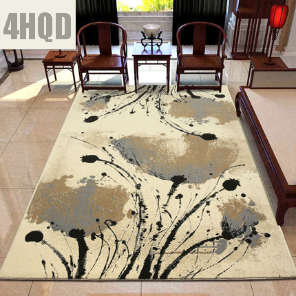 Modern simple living room coffee table sofa carpet new Chinese classical bedroom study ink painting art