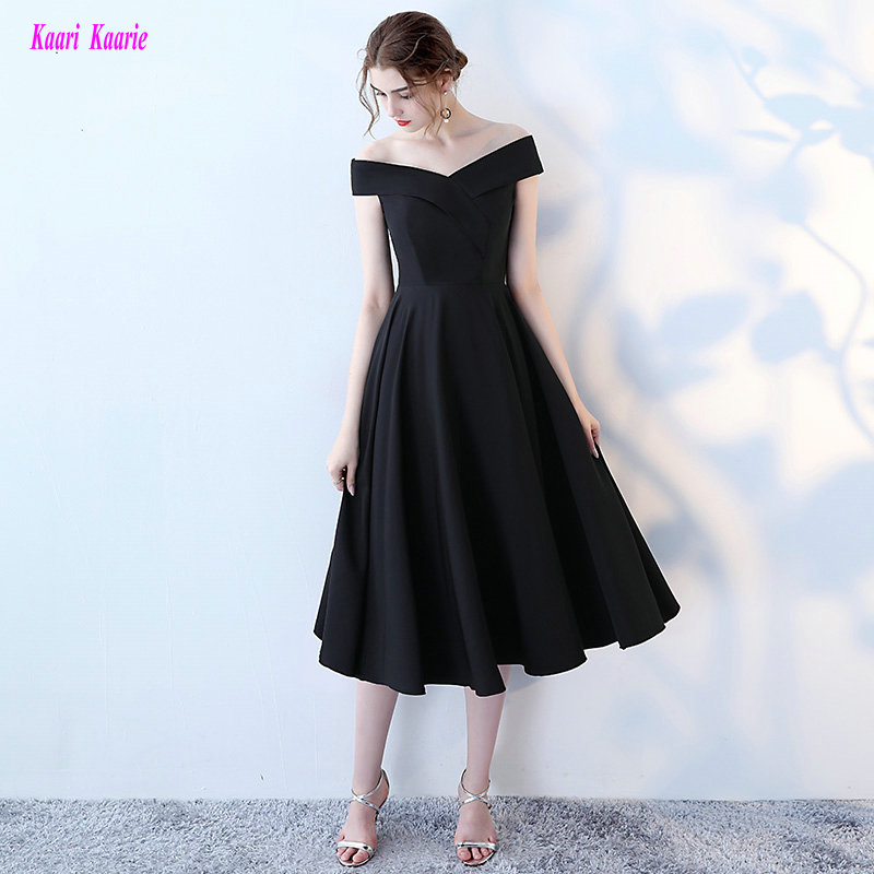 Simple Black Evening Gowns 2018 New Sexy Sweetheart Lace