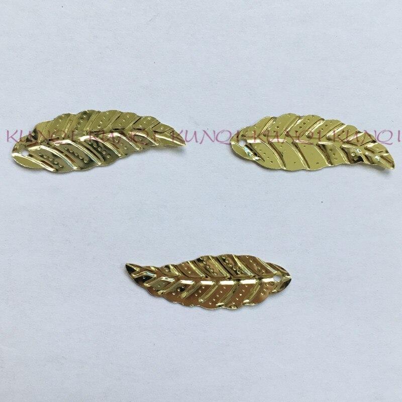 450pcs 12*30mm Leaves Golden Flat Loose Sequins Paillettes Sewing,Wedding Craft,Women Kids DIY Garment Accessory  SFLYX