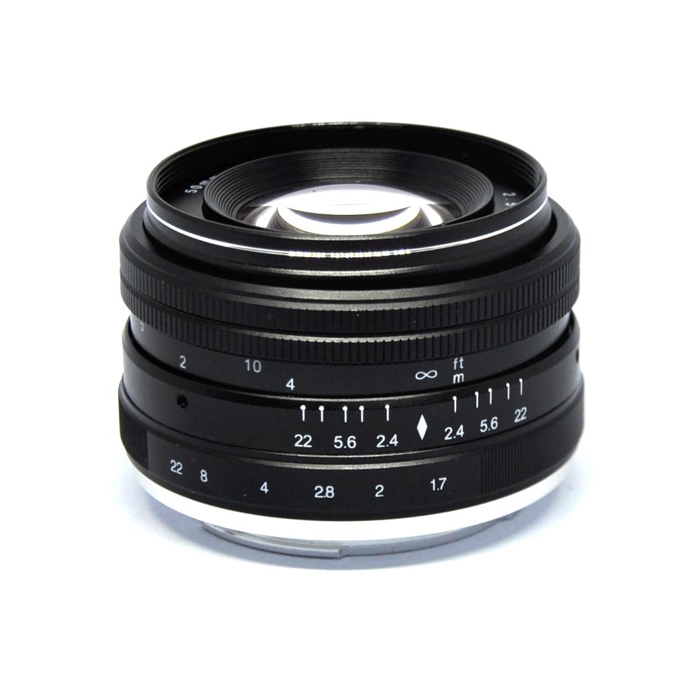 JINTU Pro 50mm f 2 0 f22 Manual Prime Lens for Sony E mount APS C