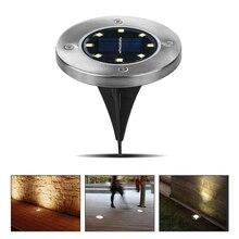 Светильник на солнечной энергии под заземлением, 8 светодиодный 4 Светодиодный светильник для улицы, садовый газон, уличный светильник ing