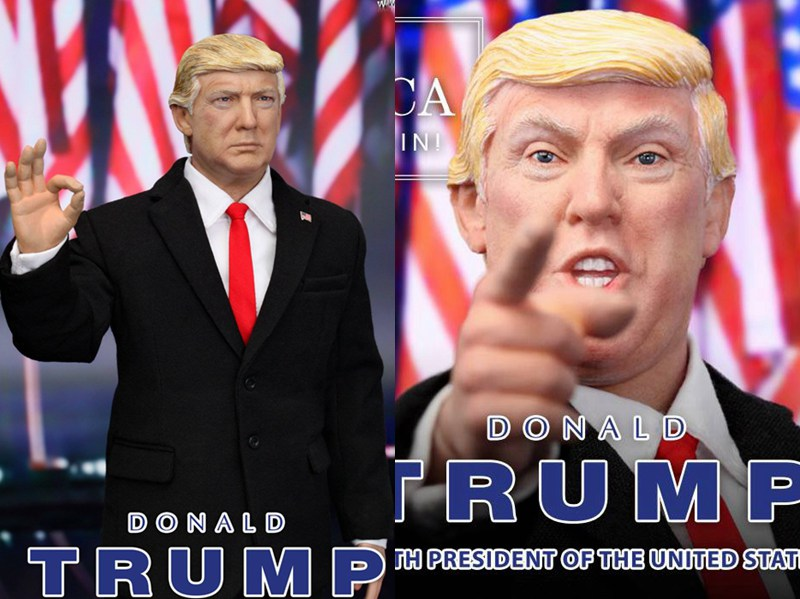 1:6 scale figure doll US America president Donald Trump with 2  headsculpts 12