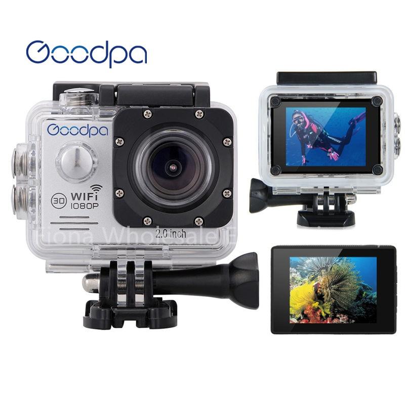 Original Brand Goodpa Action camera Ultra HD 4K WiFi 1080P/60fps 2.0 LCD 170D lens Helmet Cam waterproof pro sports camera
