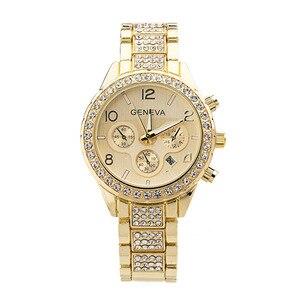 Image 4 - 女性の腕時計ステンレス鋼絶妙な女性のラインストーンの高級カジュアルクォーツ時計 Relojes Mujer 2020 新着 876
