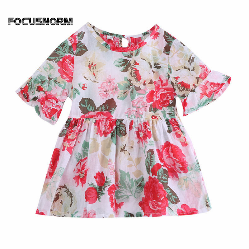 Quality 2017 Pudcoco Lovely Baby Kids Girls Cute Sleeveless Top Toddler Girl Princess Flower Floral Party Tutu Summer Floral Casual Top Excellent In