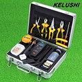KELUSHI 28 EN 1 Kit de Herramienta de Fibra Óptica FTTH con FC-6S Cuchilla de fibra Óptica Medidor de Potencia 10 mW Localizador Visual de Fallos Herramienta de Desmontaje