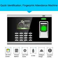 Biometric Fingerprint Time Attendance System TCP/IP Fingerprint USB Access Control Time Clock Recorder Office Employees Device