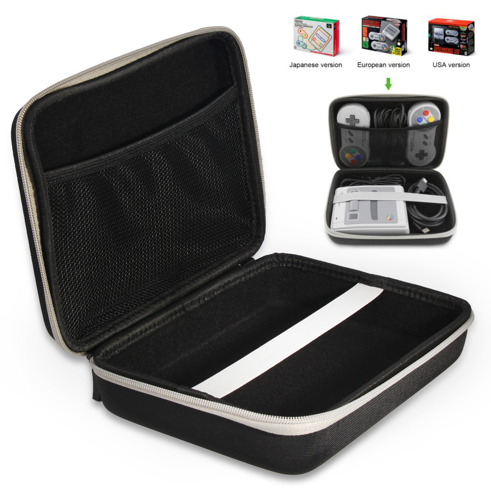 Travel Carrying Case For MINI S-FC Video Game Console Portable Protective Hard Carry Case Anti Shock Storage Bag For Nintendo