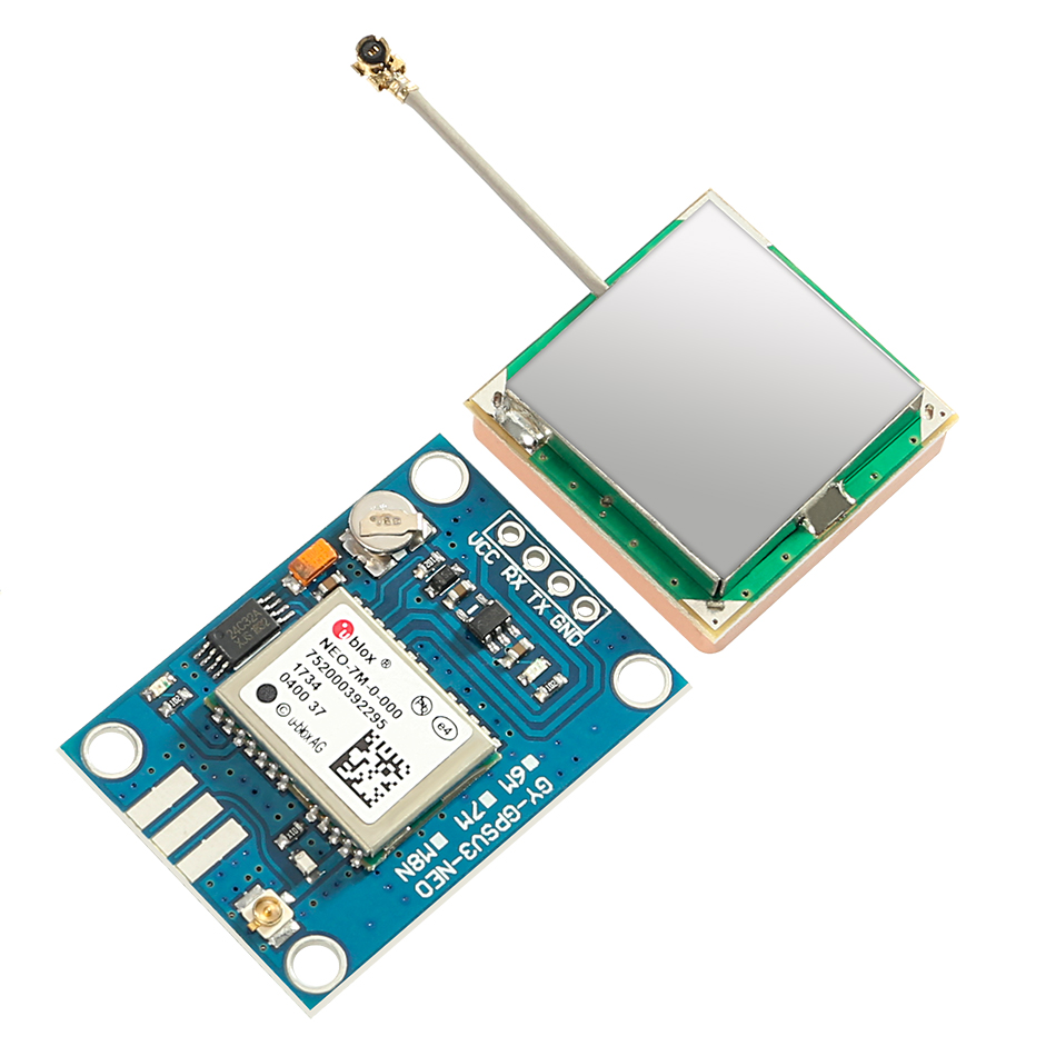 For Arduino New Mini NE0-7M EEPROM Satellite Positioning Module 51 SCM MCU NEO-7M For Replace Neo-6M Dual Antenna Interface GPS
