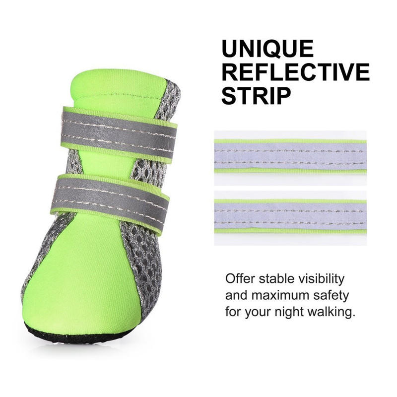 4PCS/Set New Dog Shoes Mesh Breathable Comfortable Soft Bottom Shoes for Indoor Antiskid Shoes for Dog Pet Shoes Supplies
