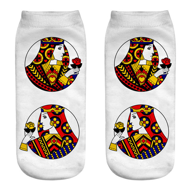 Women's Poker Printed Socks