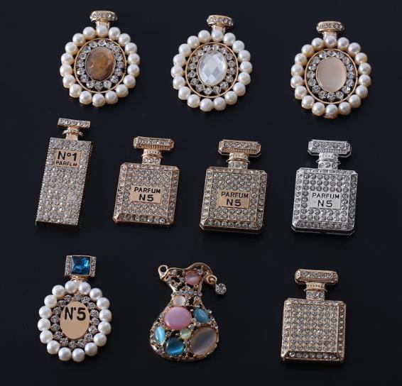 향수 병 다이아몬드 진주 합금 단추 금속 모조 다이아몬드 단추 결혼식 꾸밈 scrapbooking 부속품-에서단추부터 홈 & 가든 의  그룹 1