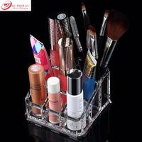 New Clear Acrylic Comestic Organizer Makeup Jewelry Display Case Lipstic Brush Stand Holder Nail Polish Storage