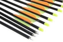Longbowmaker 12PCS 32 Inches Fiberglass Target Practice Arrows F2YOT3