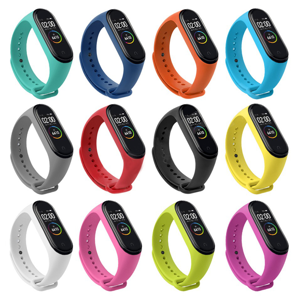 Replacement <font><b>Strap</b></font> For Xiaomi <font><b>Mi</b></font> <font><b>Band</b></font> <font><b>4</b></font> <font><b>Silicone</b></font> Wrist <font><b>Strap</b></font> For Xiaomi <font><b>Mi</b></font> <font><b>Band</b></font> <font><b>4</b></font> <font><b>Bracelet</b></font> Miband <font><b>4</b></font> <font><b>3</b></font> Sport Soft <font><b>Straps</b></font> <font><b>Wristband</b></font> image