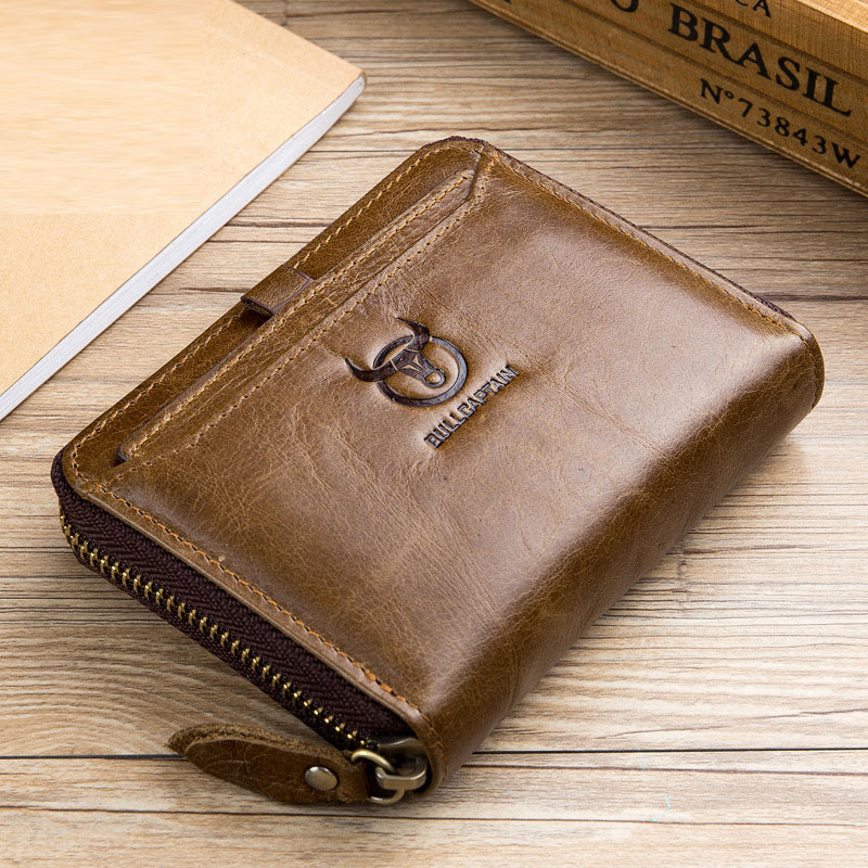 Cool Design Genuine Leather Men Wallets Multi-Functional Cowhide Card Holder Coin Purse Genuine Leather Short Wallet for Men bullcaptain genuine leather men wallets brand retro cowhide men s purse coin pocket card holder short design man wallet