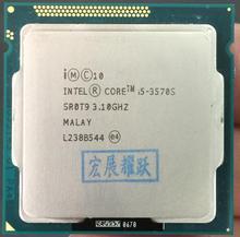 Intel Core i5 3570S I5 3570 S โปรเซสเซอร์ PC คอมพิวเตอร์เดสก์ท็อป CPU (6 M Cache, 3.1 GHz) LGA1155 เดสก์ท็อป CPU Quad   Core CPU