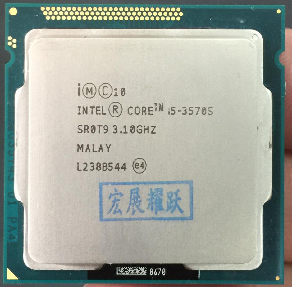 Intel Core i5-3570S I5 3570 S processeur PC ordinateur de bureau CPU (6 M Cache, 3.1 GHz) LGA1155 ordinateur de bureau CPU Quad-Core CPU