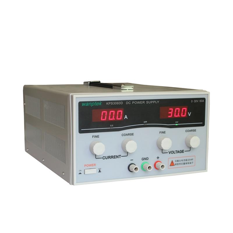 220 V 0-30 V/0-60A KPS3060D haute précision haute puissance réglable affichage de LED commutation DC alimentation de laboratoire