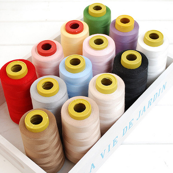 2PCS polyester thread wholesale 40s hand machine stitching axis 3000m shares sewing mixed colors supplies image