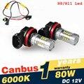 2 Unids/lote Super White H8 H11 CREE LED Chip Luz de Niebla Bombillas de Conducción + Canbus decodificadores Error Gratis para BMW E71 X6 M E70 X5 E83 F25 x3