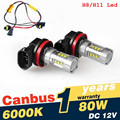 2Pcs/Lot Super White H8 H11 CREE Chip LED Fog Light Driving Bulbs +Canbus Decoders Error Free for BMW E71 X6 M E70 X5 E83 F25 x3