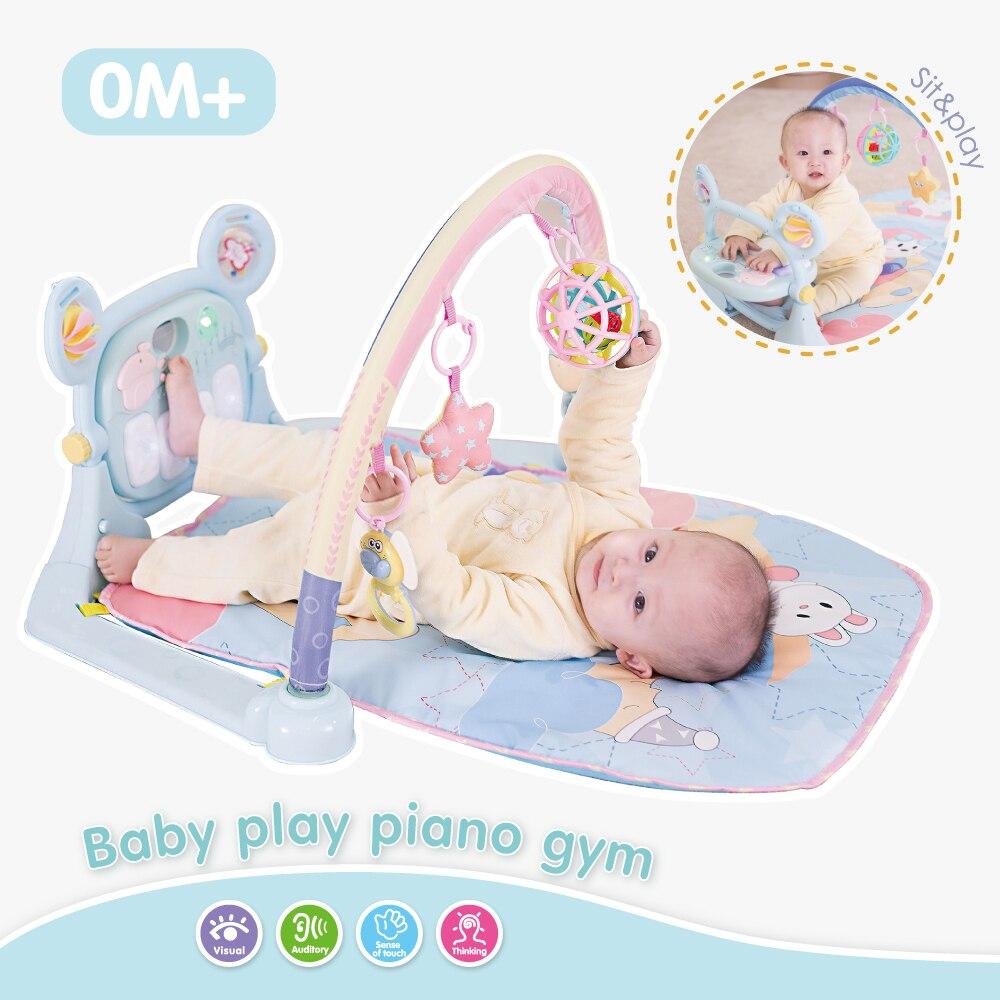 3 en 1 tapis de jeu pour bébé ramper tapis de musique pour enfants clavier Piano tapis de Fitness pour bébé jouets éducatifs tapis de bébé 0-12 mont