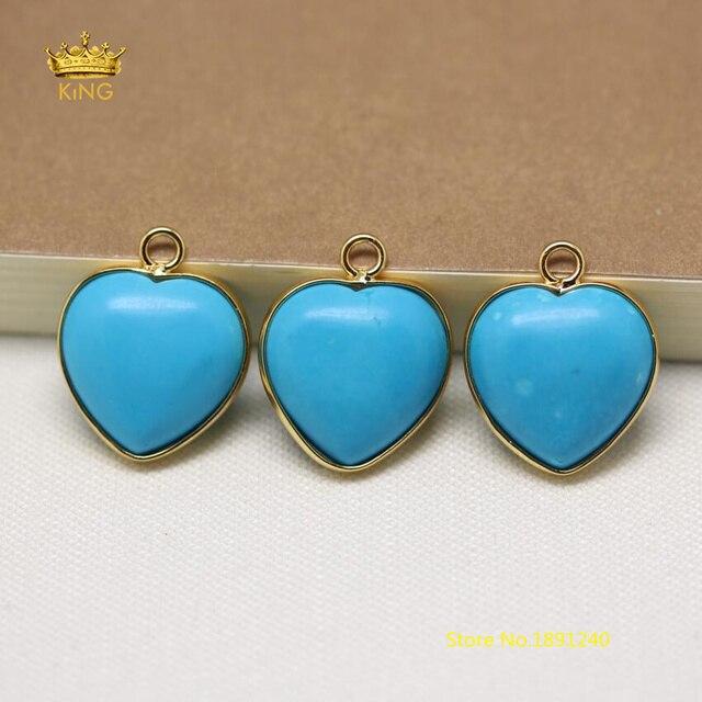 10pcs 16mm heart shape howlite magnesite pendants fashion jewelry 10pcs 16mm heart shape howlite magnesite pendants fashion jewelryblue turquoises charm plated gold bails mozeypictures Images
