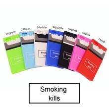 Creative Cigarette Quit smoking Silicone Box Black Red phone Case back Cover For iphone 5/5s/se 6/6s/plus