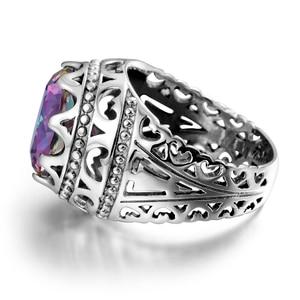 Image 3 - Szjinao Luxury Men Ring Real 925 Sterling Silver Rings For Women Gemstones Unisex Vintage Mens Jewellery Handmade Fine Jewelry