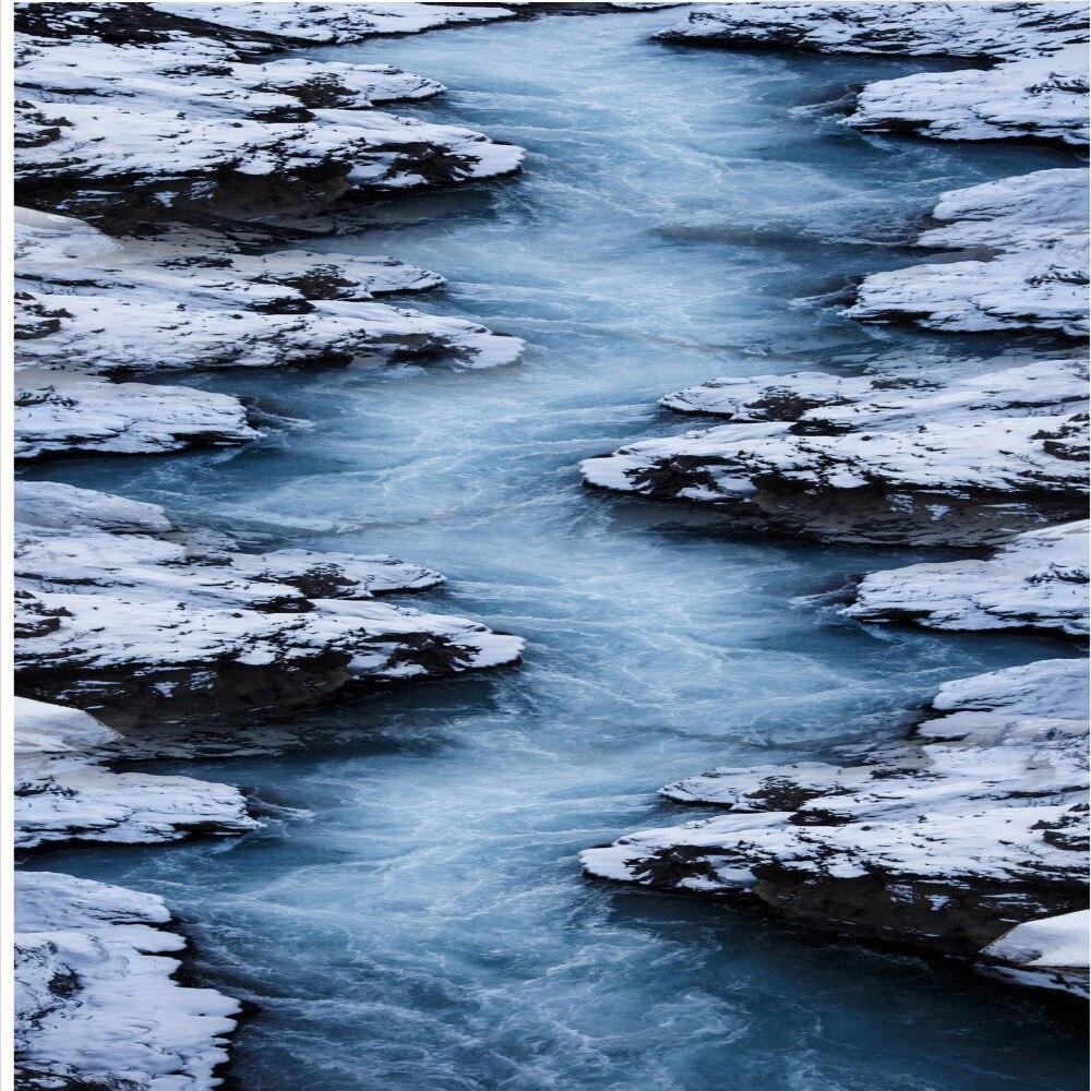 Gratis Pengiriman Salju Air Mengalir Pemandangan Alam Lukisan 3D