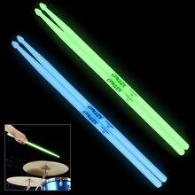Серебристые 5А барабанные палочки светится в темноте сценические светящиеся барабанные палочки 2 цвета на выбор
